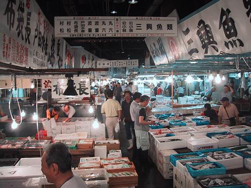 mercado de pescado Tsukiji